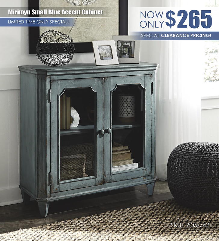 Mirimyn Small Blue Accent Cabinet_T505-742