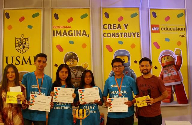 Colegio Niño Jesús de Praga del Callao ganó torneo Imagina, Crea y Construye de la USMP y Lego Education