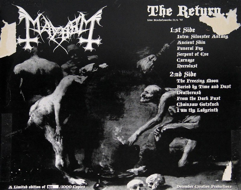 "Mayhem Live ""The return"" 21th june in Bischofswerda 1997 Limited Edition 1000"