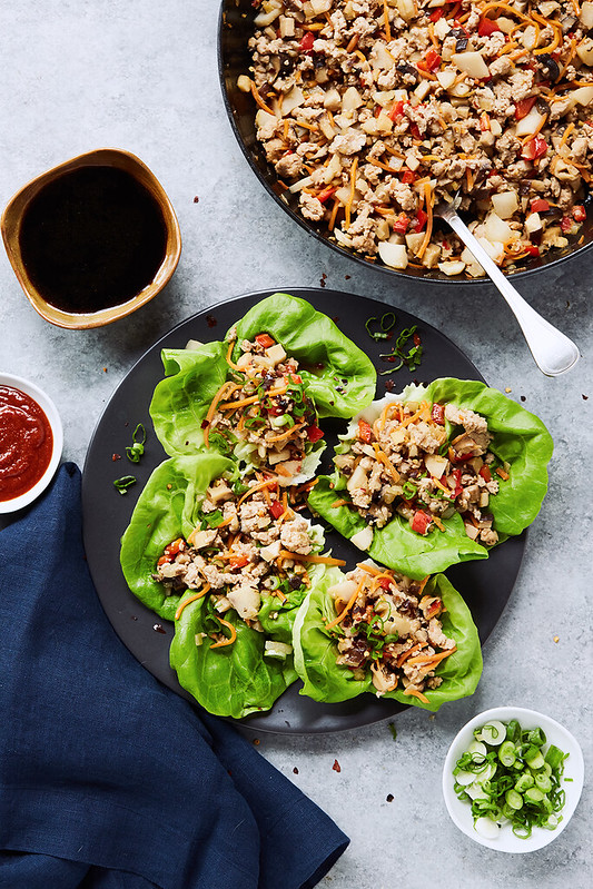 Keto Asian Chicken Lettuce Wraps {Paleo, Whole30}