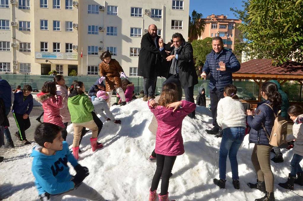 Karne öncesi kar sürprizi