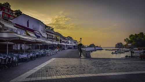 morning sunrise sun summer nikon travel city cityscape bay greece