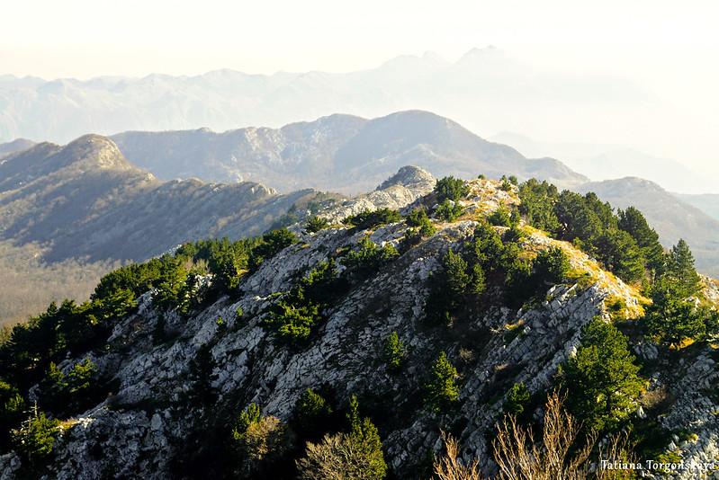 Вид на горный хребет