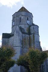 Clocher (XVe), église Saint Pierre, Cozes, Saintonge, Charente-Maritime,  Nouvelle-Aquitaine. - Photo of Grézac