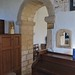037-20180927_Great Washbourne Church-Gloucestershire-Norman Chancel Arch with adjacent gothic squints viewed from SE corner of Nave