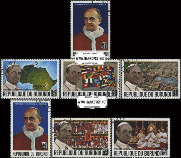 Známky Burundi 1969 Pápež v Afrike