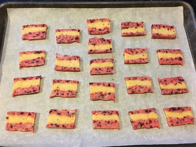 Cranberry orange icebox cookies