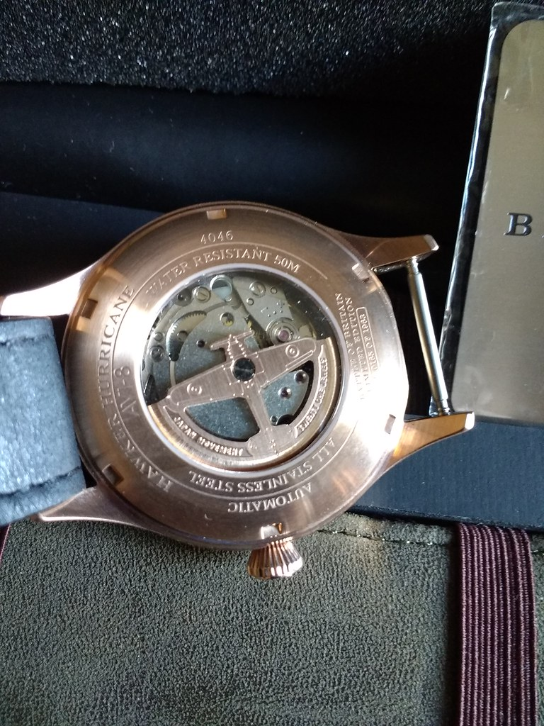 AVI 8 Hawker Hurricane Rose Gold Case Back