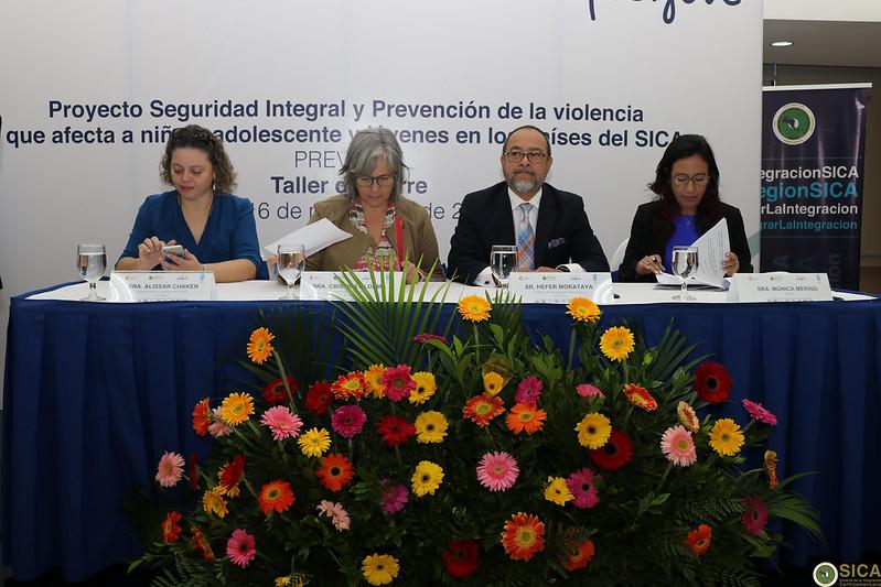 Taller de cierre del Proyecto Seguridad Integral y Prevención de Violencia que afecta a niños, adolescentes y jóvenes en los países del SICA (PREVJUVE)