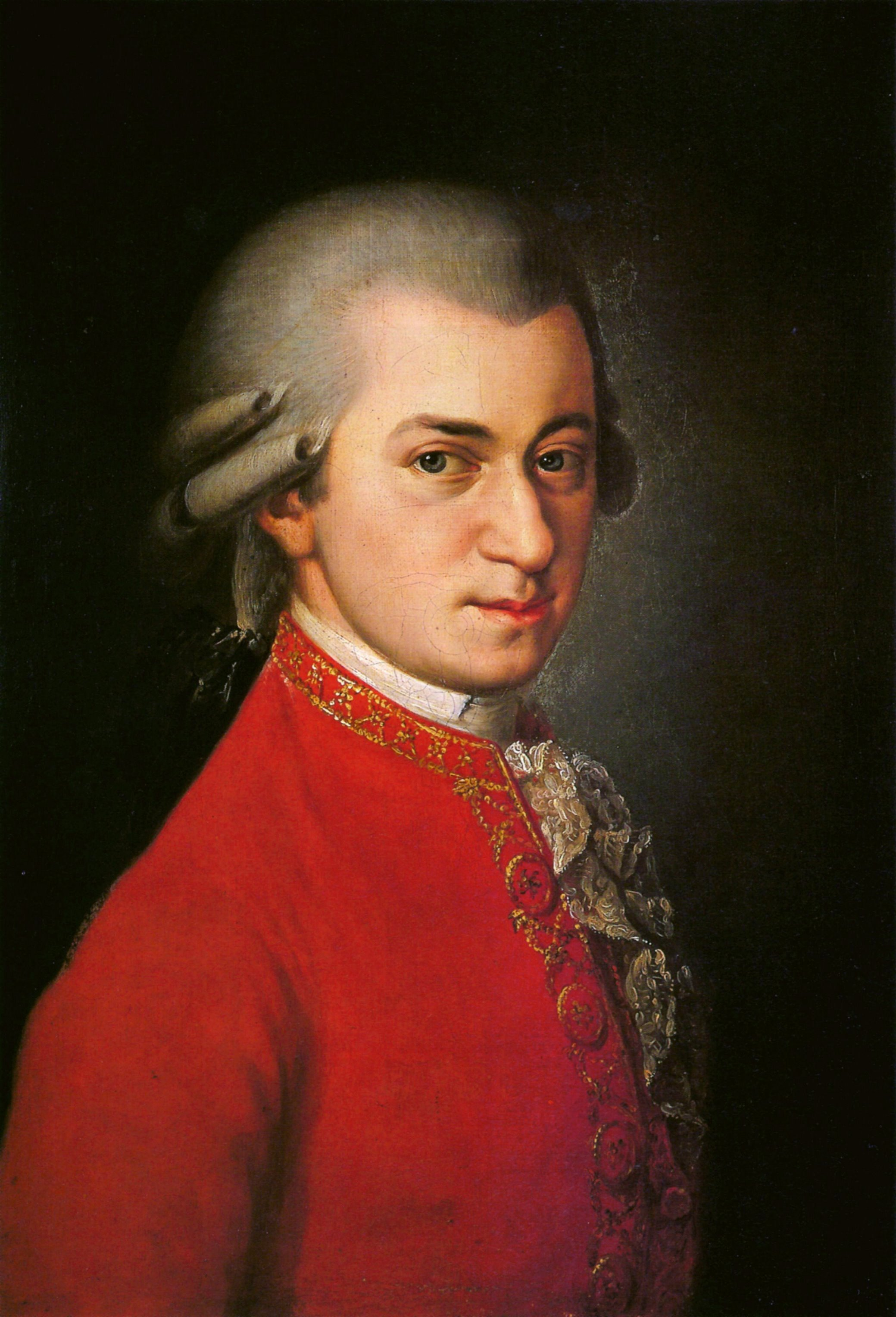 Posthumous portrait of Wolfgang Amadeus Mozart was painted by Barbara Kraft at the request of Joseph Sonnleithner in 1819, long after Mozart died. Sonnleithner, who was making a