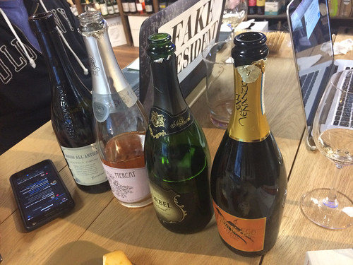 Our Wine Lineup- San Venanzio Prosecco, Korbel Natural, Mercat Brut Rosé Cava, and Rosso All' Antica Lambrusco