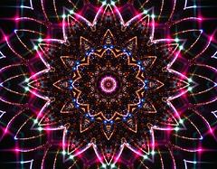 Big Firework Kaleidoscope Mandala