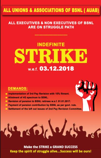 indefinite strike 3-12-2018