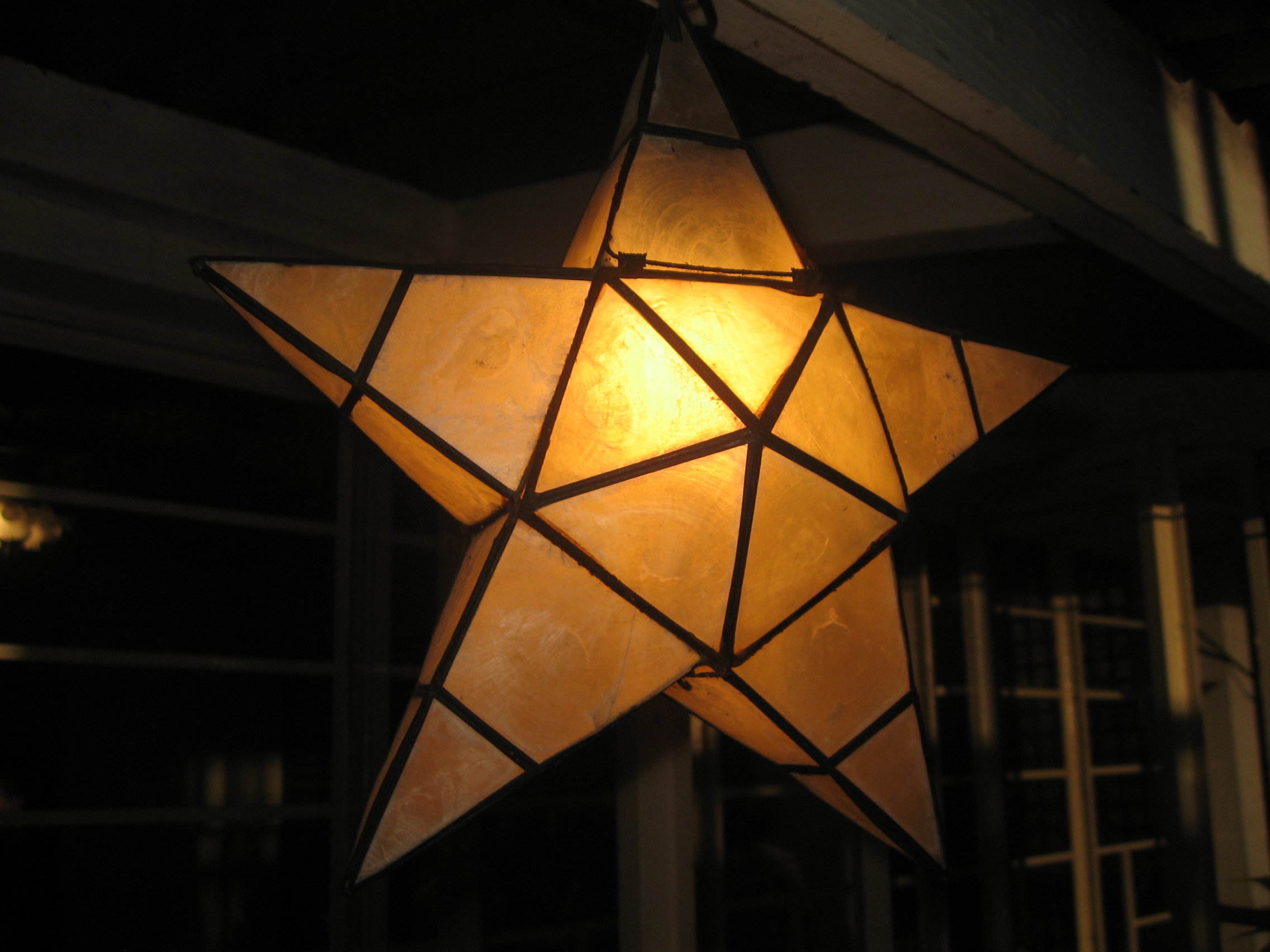 A simple parol made with capiz shells. Photo taken by <a href=
