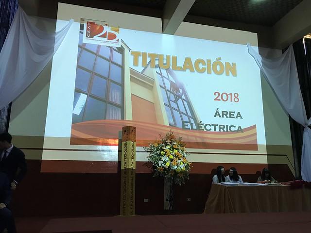 Titulación Área Eléctrica 2018
