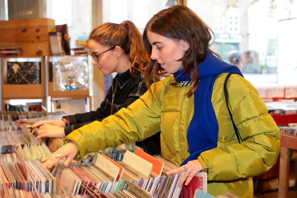 Record Shopping with Wovoka Gentle
