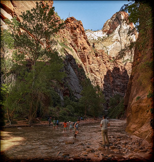 The Narrows, hiking in the Virgin River