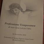 2018-11-24 - Professione temporanea suor Sara Letizia Fabis