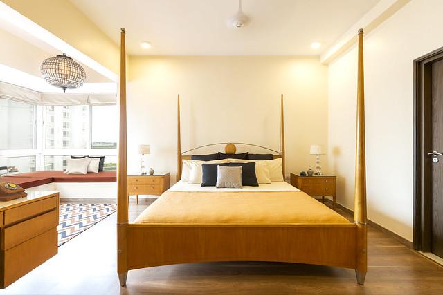 Four poster modern bedroom interior design ideas