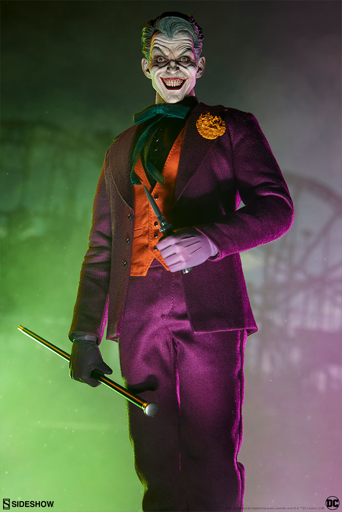 高度展現小丑瘋狂的精彩頭雕!! Sideshow Collectibles DC Comics【小丑】The Joker 1/6 比例人偶作品