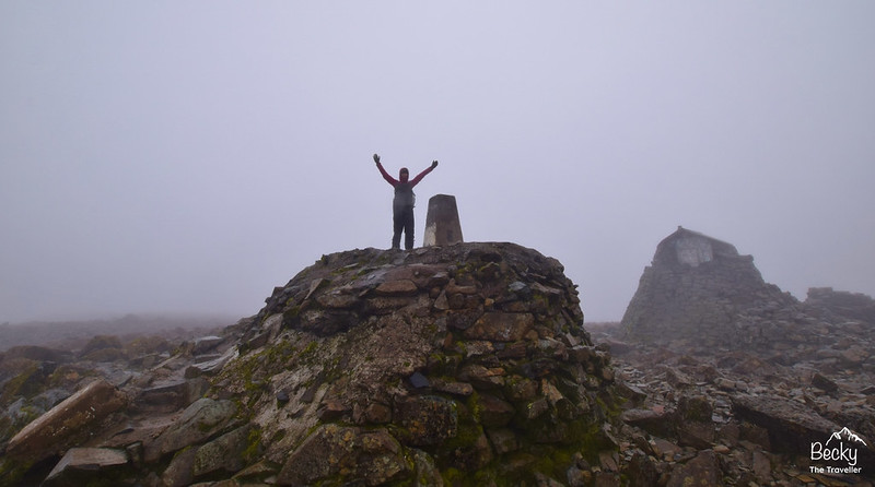 Ben Nevis summit in Scotland