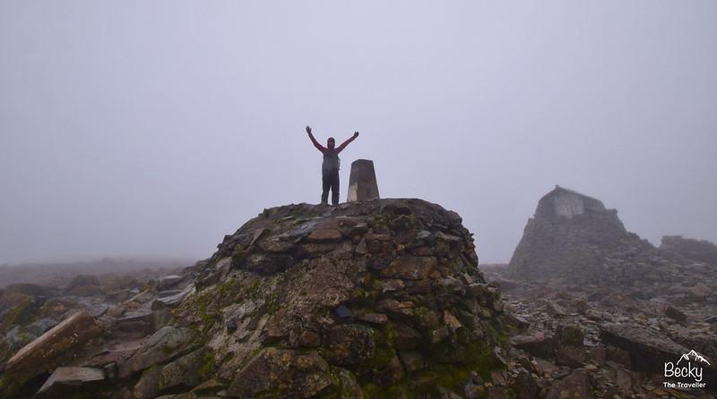 Ben Nevis summit in Scotland