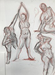 2 minute and 5 minute Gestures - Figure Drawing