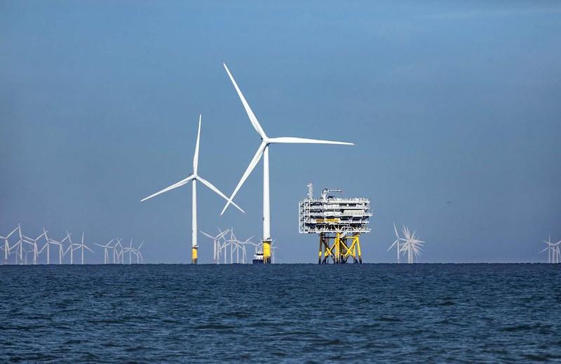德國外海的離岸風機。沃旭能源提供。