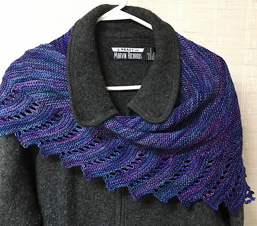 Carduelis' Close to You knit with Malabrigo Mechita in Whales Road