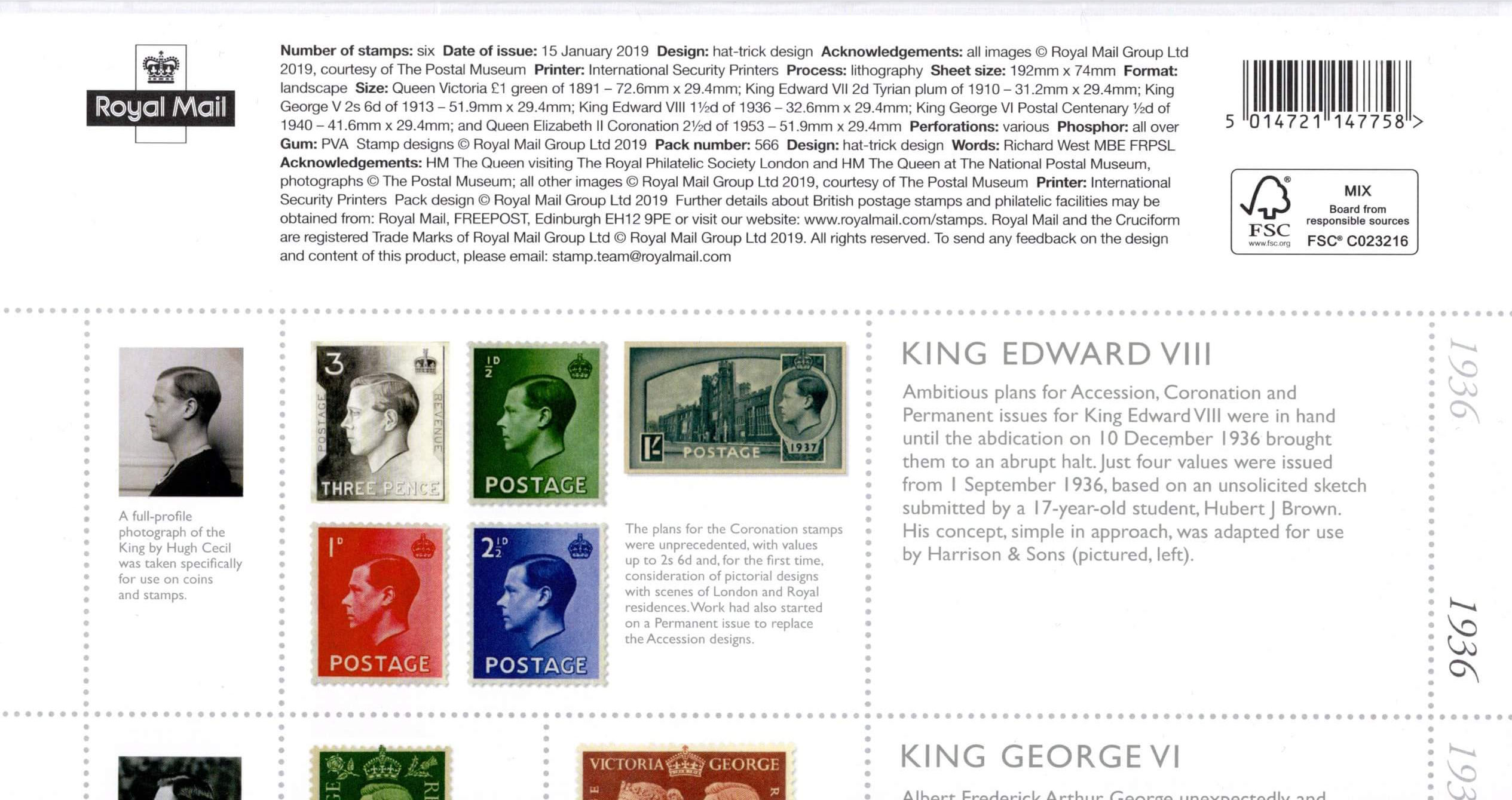 Great Britain - Stamp Classics (January 15, 2019) presentation pack