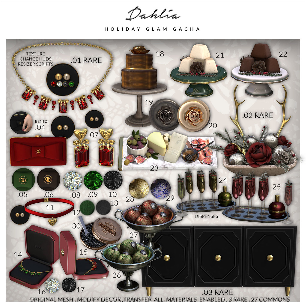 Dahlia – Holiday Glam – Gacha Key