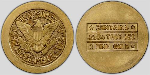 1947 U.S. Mint gold disc