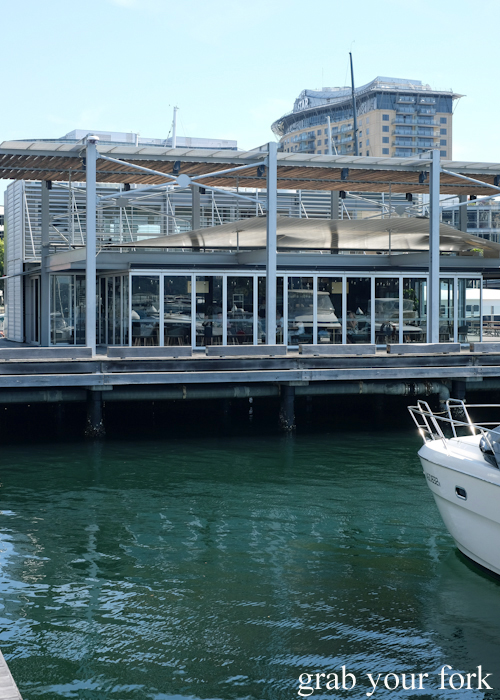 Pier dining at LuMi restaurant in Pyrmont Sydney
