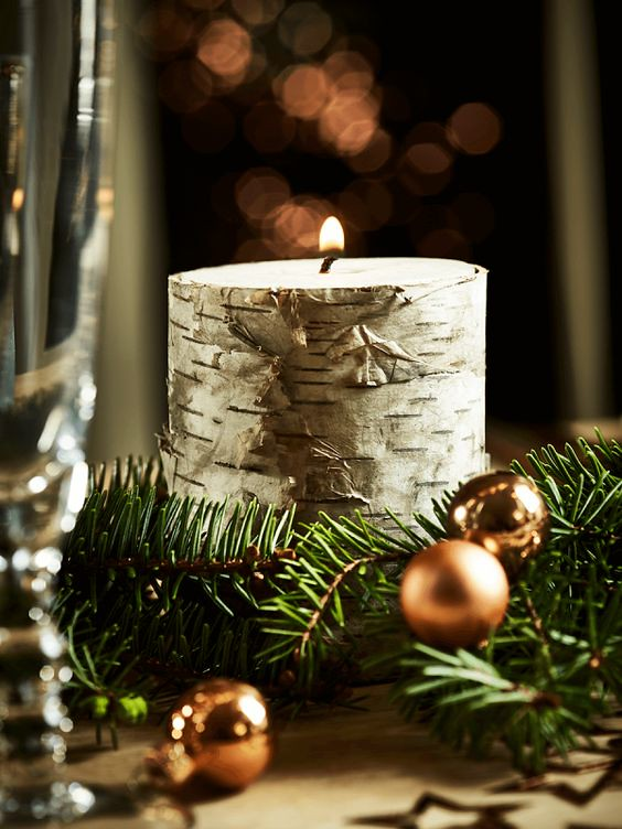 Cox & Cox Christmas Tree Bark Candle
