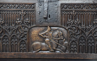St George on the parish chest (Flemish, c1450)