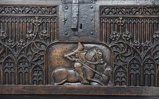 St George on the parish chest (Flemish, c1450)
