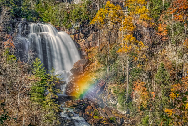 Rainbow at Whitewater Falls, Sony ILCA-99M2, 70-400mm F4-5.6 G SSM II