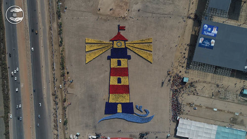 An Arial view of Human Image of Light House Symbol