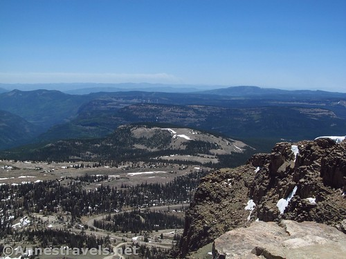 Views toward the southeast from Bald Mountain in the High Uintas of Utah