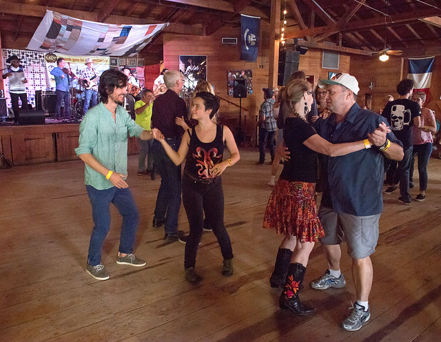 Goldman Thibodeaux and the Lawtell Playboys, Blackpot Festival, Vermilionville, Lafayette, Oct. 27, 2018: dancers