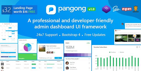 Pangong v1.1 - Developer-friendly Bootstrap 4 Admin Dashboard + UI Kit