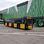 Newport RFC Liveried Bus, Friars Walk, Kingsway, Newport 27 December 2018