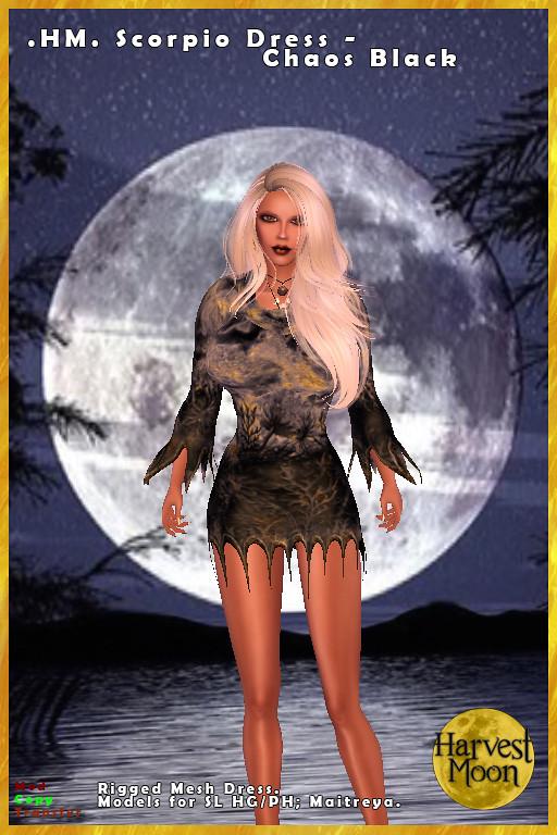 Harvest Moon – Scorpio Dress – Chaos Black