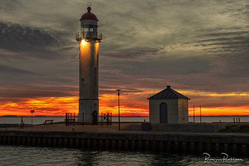 Lighthouse Hellevoetsluis at Sunset