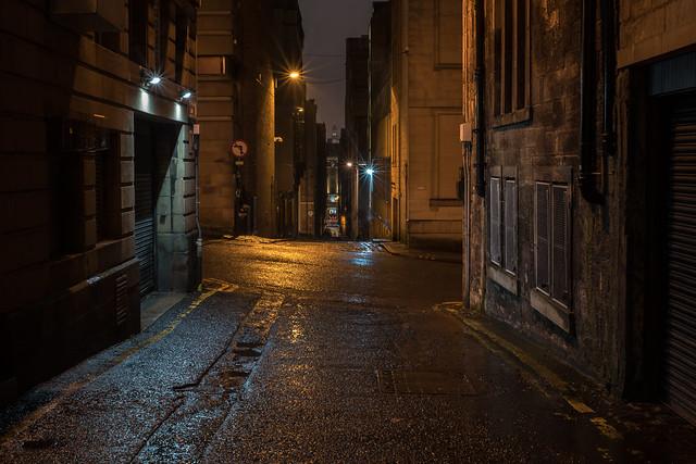 Alley In The Rain, Nikon D750, AF Nikkor 50mm f/1.8