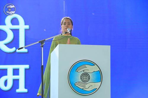 Shivani Chauhan delivered Hindi speech, Gwalior, MP