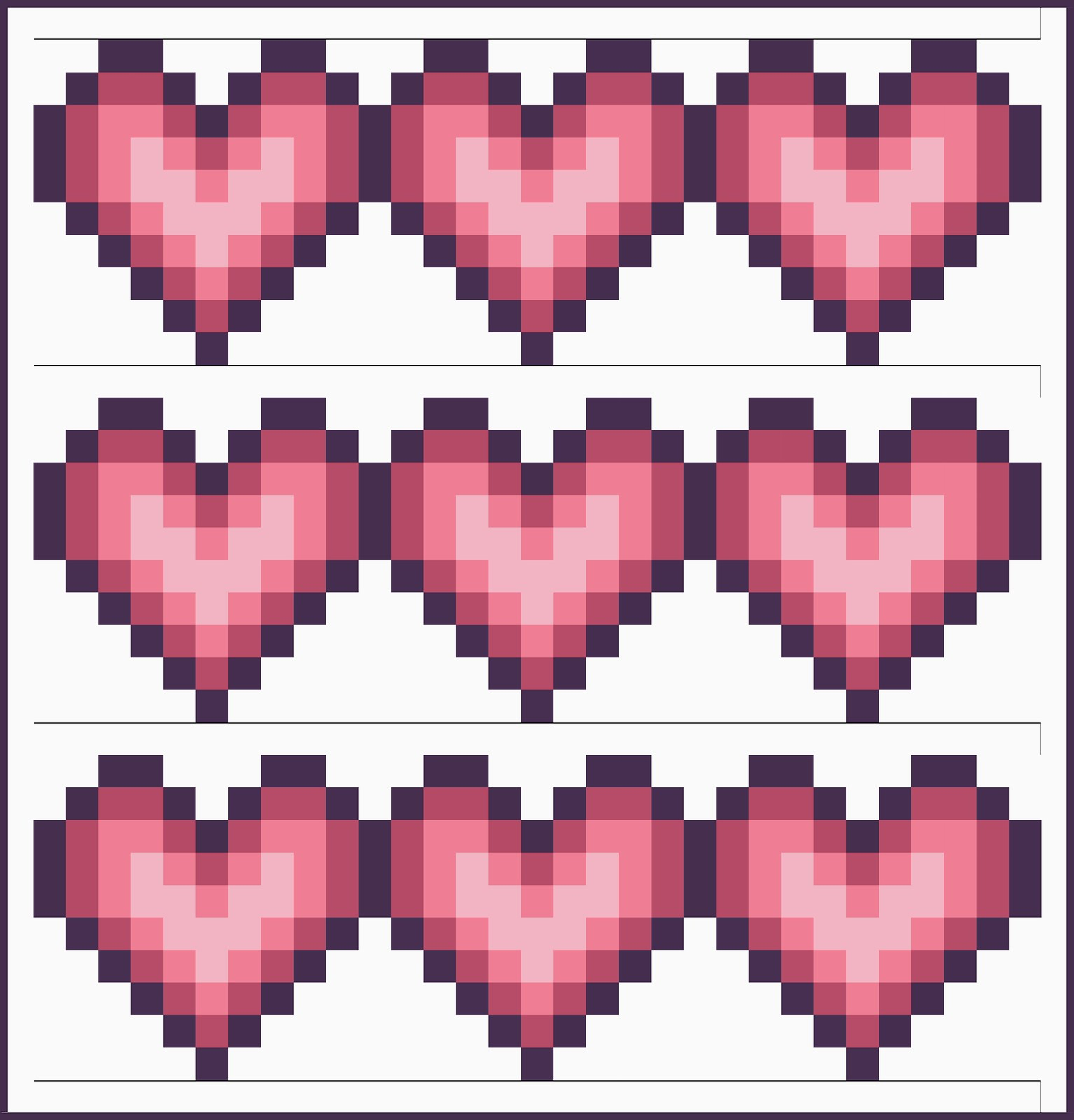 Pixel Heart Quilt Tutorial