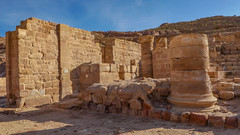 Part of the Great Temple complex in Petra