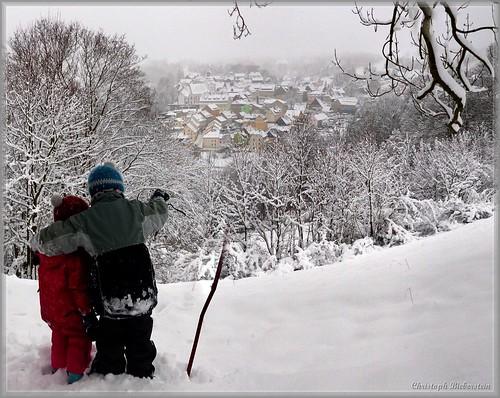 Hänsel und Gretel im Winterland