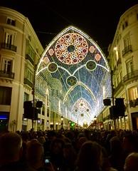 Christmas lights Malaga, Spain.